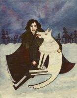 Jon Snow and Ghost by Tawastman