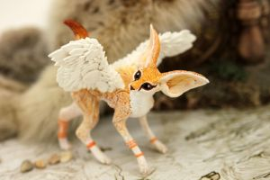 Winged fennec foxy 2 by hontor