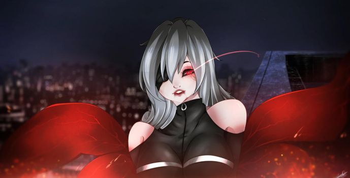 Kaneki female fanart by x3SamyPamy3x