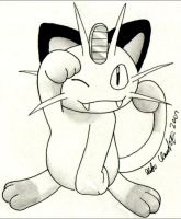 Meowth by HomunculusLover