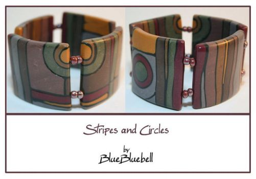 Stripes and Circles by BlueBluebell