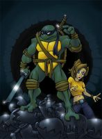 TMNT Leo and April by countersunk81