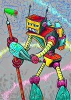 graffitti robot by casebasket