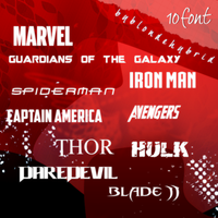 Marvel Font Pack by blondehybrid