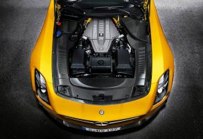 Mercedes-Benz SLS AMG Black Series Engine by apple-yigit-jack