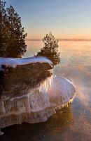 Cave Point Sunrise Jan 09 by FAceleSS-21