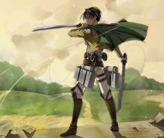 SnK:Levi by Tlaloca