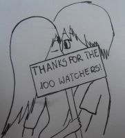 Thanks for the 100 watchers! =3 by MiesnyJezXD