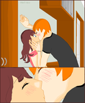 Kyo kisses Tohru by musiciswhatilove