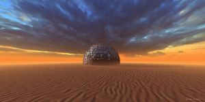 Techno Planet in Desert by PayamTavakoli