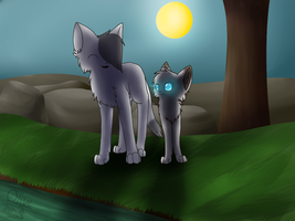 Cinderflower and Birchpaw by goatguts