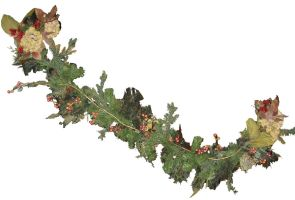 Christmas Garland by GreenEyezz-stock