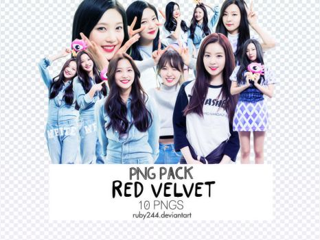 PNG PACK RED VELVET by Ruby244
