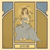 fake mucha's - january by kaffepanna