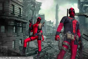 Deadpool Corps in Destroyed City by MrSnugglez84