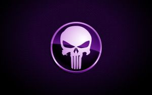 Purple Punisher Skull by SleekDesigns2010