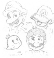 Mario and Prince Boo by Rainmaker113