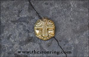 Dwarven pendant: real brass version by TheIronRing