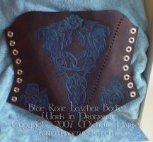 Blue Rose Bodice WIP by MPFitzpatrick