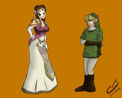 Link and Zelda body swap by CM-The-Artist