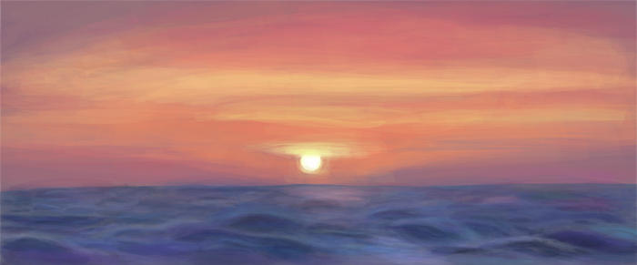 Evening sea (WIP) by tgolyi