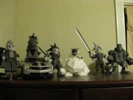 FFVII Guys Papercraft by StrikerXIII