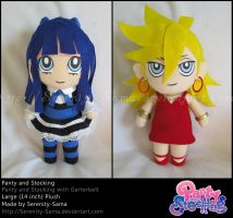 Plushie: Panty and Stocking by Serenity-Sama
