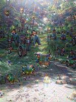 In the depths of the forest(by Deep dream) by Nao1967