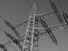 Electrical Tower monochrom by seahawk57