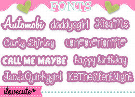 Pack de Fonts by IloveCute1220