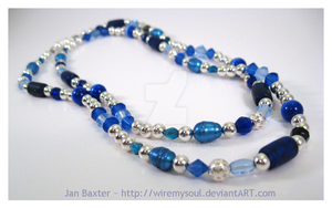 Blue Necklace for Ruth by WireMySoul
