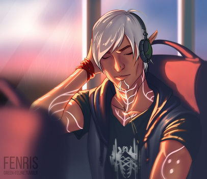 Dragon age: Fenris by green-feline