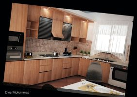 Wooden Kitchen by dinamohammad