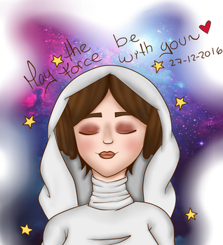 May the Force be with You, Carrie Fisher~ by MademoiselleNeko