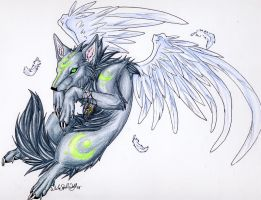 .::Half Okami_Air::. by WhiteSpiritWolf