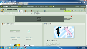 Tempest painter's got 1000 pageviews! by xXSilver146Xx