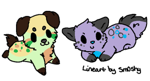 chibi puppy adopts OPEN! by neon-wolf-fun