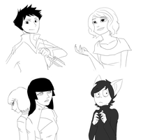 Doodles of other people's ocs by 1STW