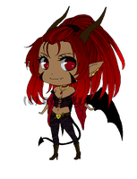 Demon girl adoptable 2- SOLD by Roots-Love