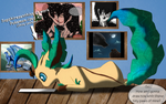 Sapphiresenthiss As A Leafeon XD by Sapphiresenthiss