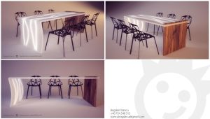 Dining table by sp00k101