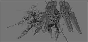 Zone of the Enders, Jehuty by magawolaz