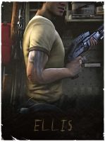 Ellis - L4D2 vintage poster by The-Loiterer
