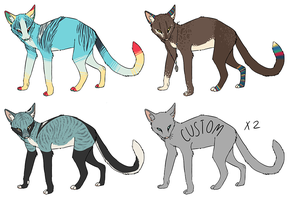 Cat Adoptables [CLOSED] by Hoppagus
