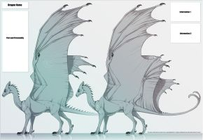 Agdragoon Pern Dragon template commission by Acayth