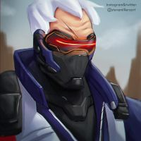 Soldier 76 by SteveMillersArt