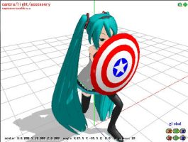 MMD: Captain America's Shield by rinlen002