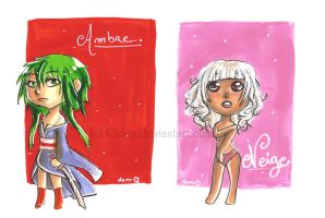 Ambre - Neige .Chibi Gift. by Cleox