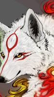 Okami.WildFire.SmallGif by WhiteSpiritWolf