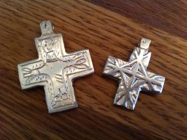 Two 11th century crosses by Dewfooter